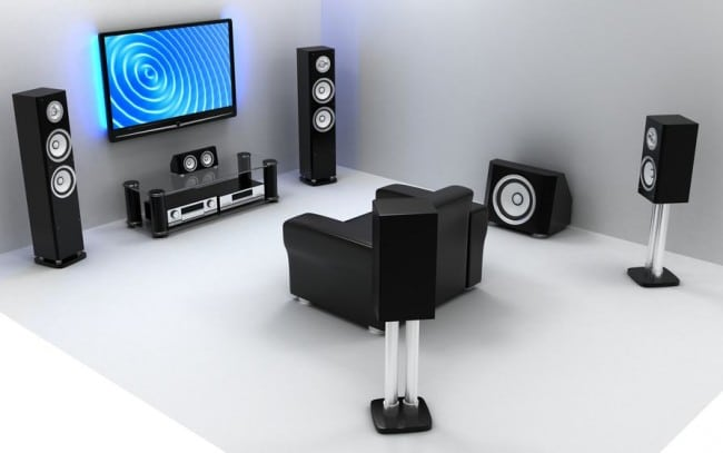 a qu altura colocar los altavoces del home cinema. Black Bedroom Furniture Sets. Home Design Ideas